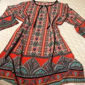 Gibson & Latimer Fun Print Tunic Dress